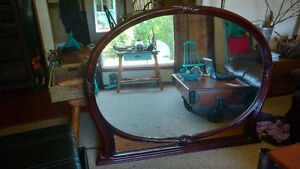 Large cherry mirror with carved detail
