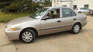 01 Corolla - auto - 4dr - LOADED - A/C - GOOD TIRES - ONLY 122KM