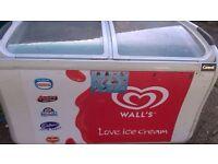 Large display chest freezer