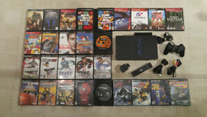 Playstation 2 w/ 28 Games, Controller, Hdd + Memory Card