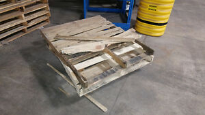 Wood pallets. Good and broken ones