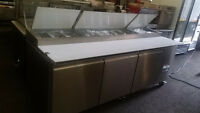 Triple Size Stainless Steel Refrigerated Sandwich Prep Table