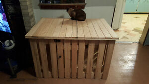 Home made wooden kennel