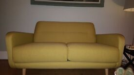 Brand new Habitat Abel sofa and chair in Saffron material