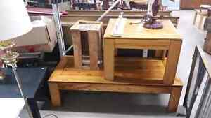 Pine Coffee and End Table for Sale