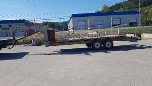 31' Flat deck/roller trailer with 2 newer 7000 pound axels.