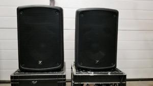 Yorkville c170p self powered speaker pair.  100W.