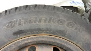 4 Hankook I-Pike winters 215/65R/16 with rims
