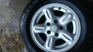 Mazda B series Truck rims with snow tires equipped