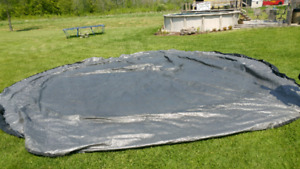 Free pool covers (2) tarp tarps from 21' round above ground