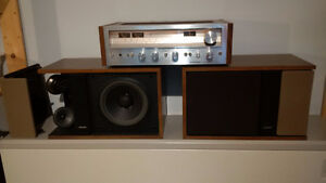 Vintage Stereo with Bose 301 Series II, Pioneer Amp, Turntable