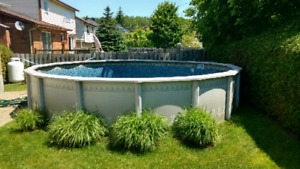 21 feet above ground pool. Pump and filter included.
