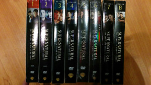 Supernatural DVD Seasons 1-8