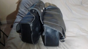 Motorcycle saddle bags, leather