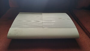 Ps3 500gb super slim white (adult owned) 120$ OBO PLEASE CALL