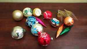 Small Collection of Vintage Christmas Ornaments! $20