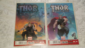 THOR GOD OF THUNDER #1 AND #2 FIRST GORR AND NECROSWORD