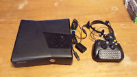 Xbox 360, 9 games, controller, headset and chat pad