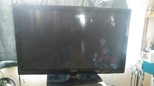 "50""  Samsung flat screen plasma TV"