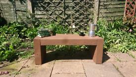 New hand made garden bench