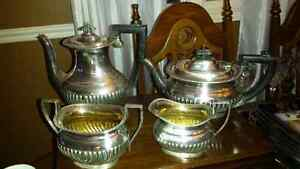 SHIMMERY SILVERPLATED VINTAGE GEORGIAN 4 PC COFFEE/TEA SET Oakville / Halton Region Toronto (GTA) image 1