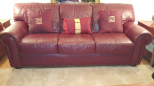 Paramount Furniture Designer Full Leather 3 piece set
