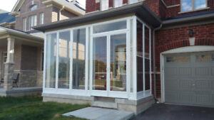 Porch enclosure  Door Windows
