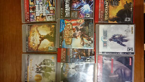 PS3 120gb and 10 games