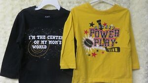 2 Boys Long Sleeve Children's Place Tops Yellow & Black Size 3 Y