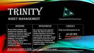 Trinity Asset Management offers consulting services