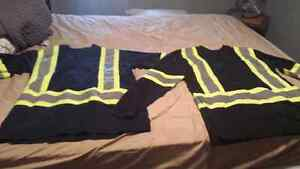 Two black work shirt.