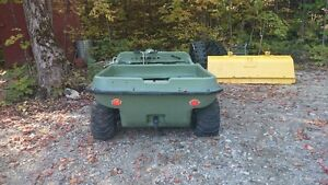 early 80's 8 wheel argo with 12x8 foot tandum trailer