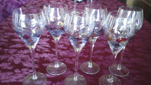 LONG STEM WINE GLASSES  - PARTY LITE - SET OF 6