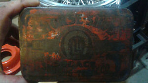 horse shoe brand tobacco tin ALSO HAVE TONS OF OTHER ITEMS