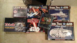 Vintage STAR WARS- 2 SteelTec Meccano sets, games, puzzle, book!