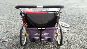 Double Chariot stroller with accessories Comox / Courtenay / Cumberland Comox Valley Area image 3