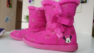 bottes pluie chaussures fille / colombia boots, girl shoes 13US