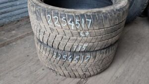 Pair of 2 Barum Polaris3 225/45R17 WINTER tires (65% tread life)