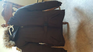 Brown North Face winter jacket