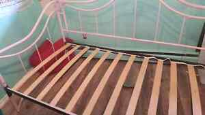 Pink Iron Twin Bed Frame