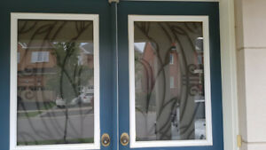Front Door window inserts