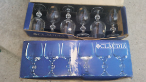 White wine glassses - Czech Bohemian Crystal
