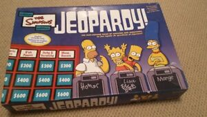 The Simpsons Jeopardy game