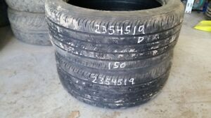 Pair of 2 Continental ContiProContact 235/45R19 tires (50% tread