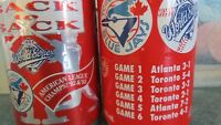 Blue jay Fans Coca Cola pop cans 1992 & 1993