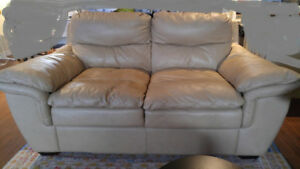 EUC - Leather Loveseat & Chair