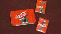 Pair of Unused Coca-Cola Playing Cards in collector tin