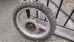 Rear Can Am Dirt bike wheel