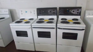 apartment size stoves with 90 day warranty. $349 and up.