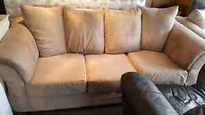 MICROFIBER COUCH AND LOVESEAT. FREE DELIVERY